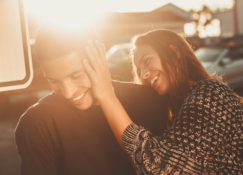 couple smiling dating